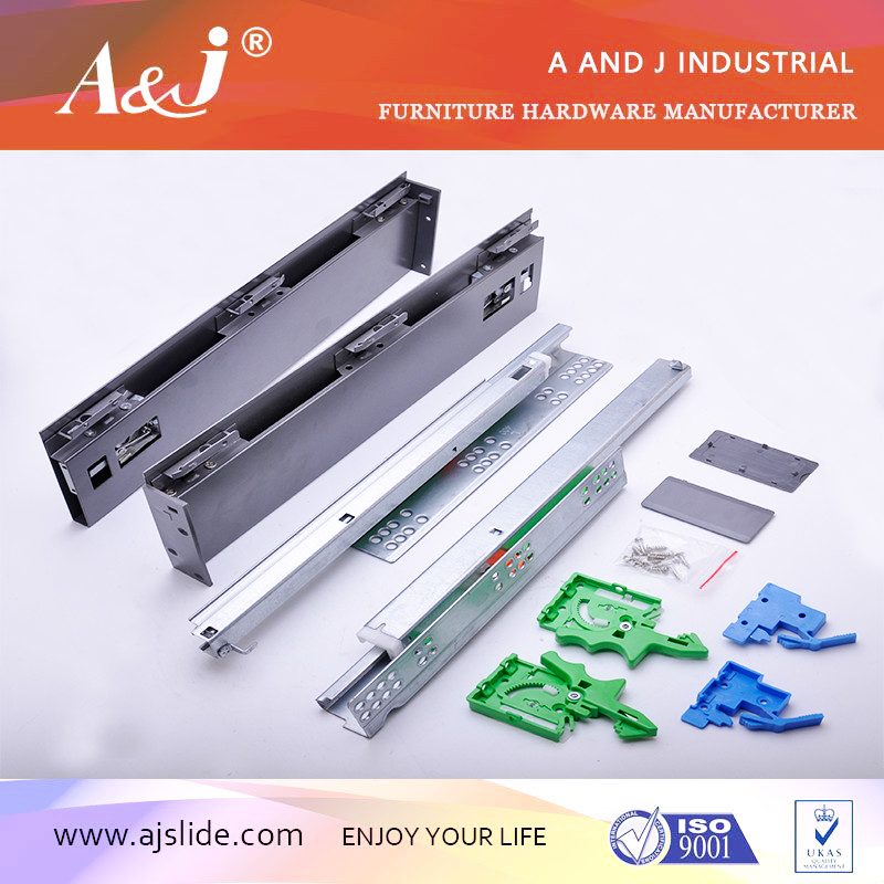 Aluminium series tandem box drawer slide