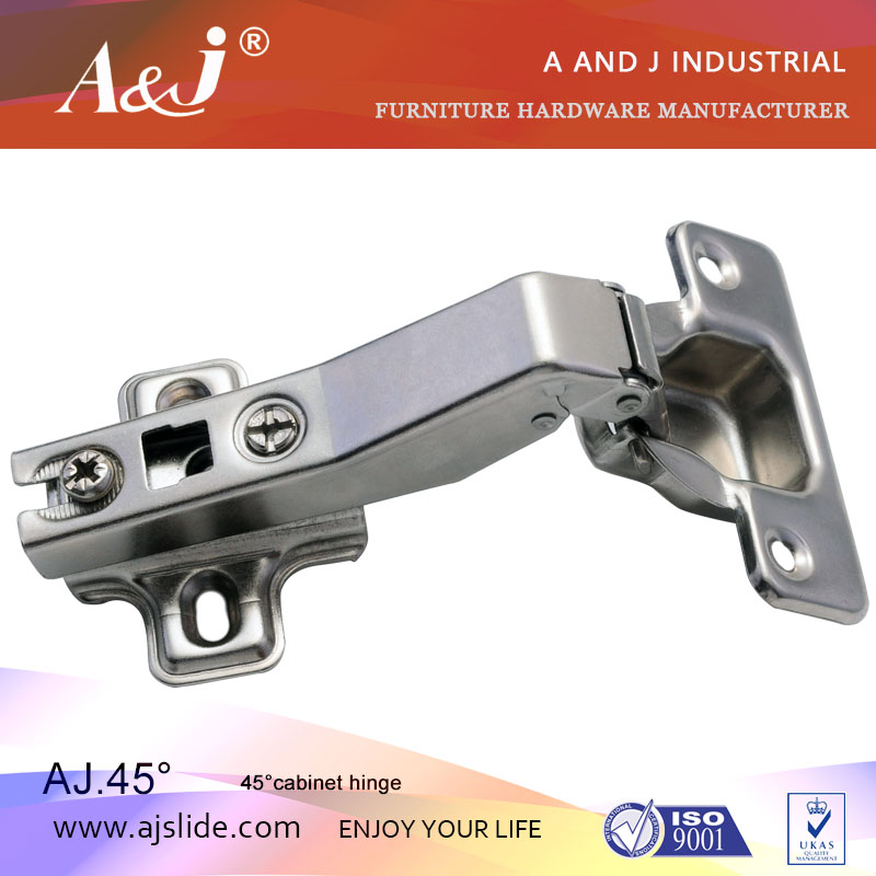 45 angle special L cabinet cupboard cup style cabinet hinge