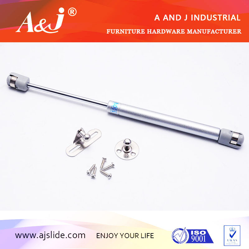 Lockable gas spring for furniture