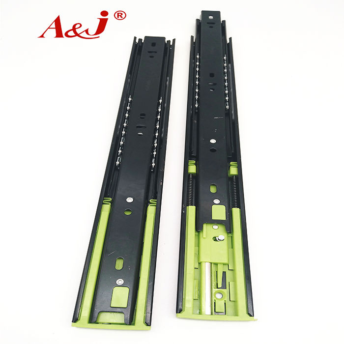 Telescopic channel double spring soft close slide