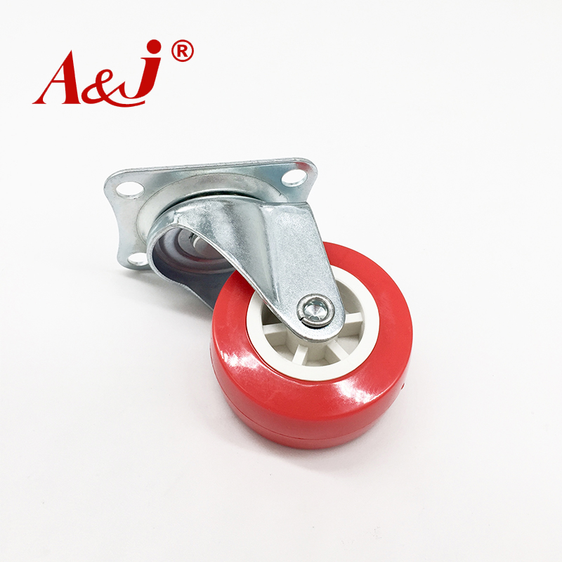 Red heavy duty good quality casters factory wholesale